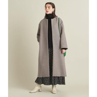 BEAUTY&YOUTH UNITED ARROWS - 今季 BEAUTY&YOUTH BY MANTECOノーカラーベルトロングコート