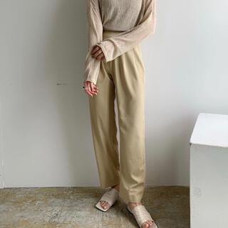 Kastane - amiur straight long pants クリーム S