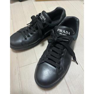 PRADA - プラダ レザースニーカー 黒
