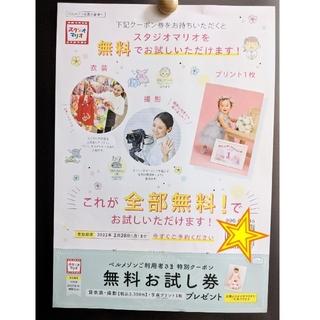 キタムラ(Kitamura)のカズキ様専用☆スタジオマリオ☆無料お試し券(その他)