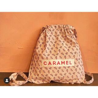 Caramel baby&child  - 【新品未使用】キャラメルベビー&チャイルド ピーチフローラル ナップサック