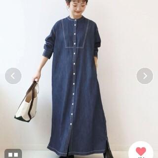 IENA SLOBE - SLOBE IENA DENIM シャツワンピース【洗濯機使用可能】