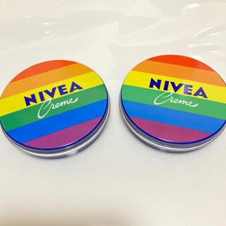 ニベア(ニベア)の日本未発売 NIVEA ニベア 30ml レインボー 限定缶 限定パッケージ(ボディクリーム)