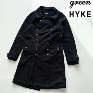 ハイク(HYKE)の希少 green 現HYKE 製品染め加工キャンバスモーターサイクルコート 1(トレンチコート)