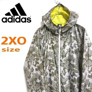 アディダス(adidas)のadidas アディダス ART カモフラ柄 ビッグサイズ  ナイロンジャケット(ナイロンジャケット)