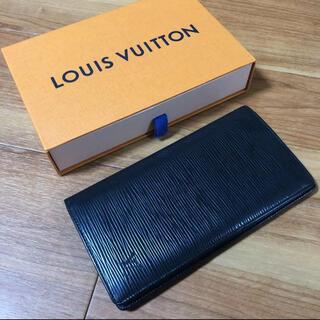 LOUIS VUITTON - 高級 美品 人気 エピ ブラック ルイヴィトン  長財布 二つ折り