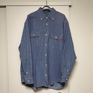 STUSSY - 80s old stussy BDシャツ ストライプ 黒タグ デニム
