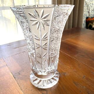 クリスタル ガラスベース 花瓶 新品未使用