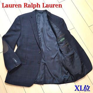 ラルフローレン(Ralph Lauren)の極美品★ラルフローレン 極上ウィンドウペンチェック ジャケット 灰 紺 A591(テーラードジャケット)