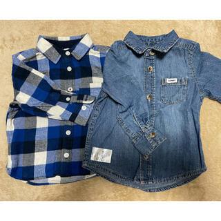 ムジルシリョウヒン(MUJI (無印良品))の80cmシャツ2枚セット 無印良品、old navy(シャツ/カットソー)