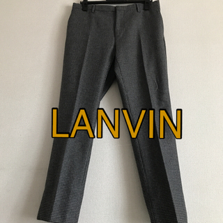 ランバン(LANVIN)のLANVINランバン 千鳥格子ウールパンツ/50(M〜L) 美品(スラックス)