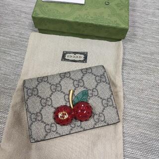 Gucci - GUCCI  チェリー 二つ折り財布
