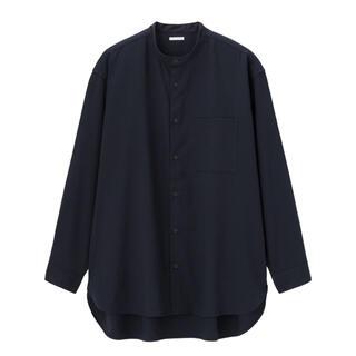 GU - GU オーバーサイズスタンドカラーシャツ(長袖)