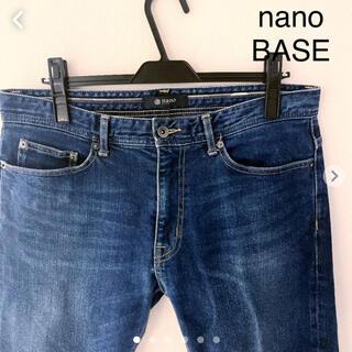 ナノユニバース(nano・universe)のnano BASE デニムパンツ スリム テーパード Lサイズ ナノユニバース(デニム/ジーンズ)