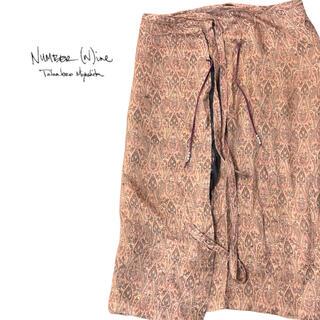 NUMBER (N)INE - ナンバーナイン 2001SS シルク腰巻きスカート ソロイスト ラフシモンズ