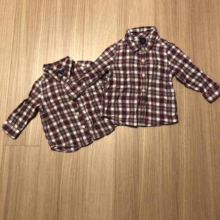 ベビーギャップ(babyGAP)のシャツ GAP baby 90 70 長袖 お揃い(ブラウス)