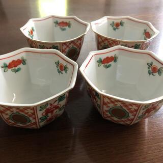 タチキチ(たち吉)のたち吉 赤絵 小鉢 4個セット(食器)