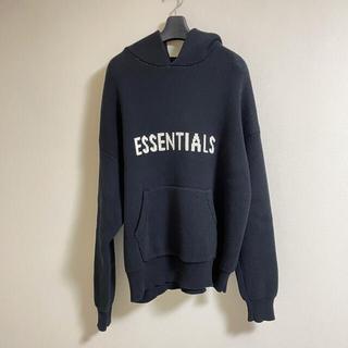 FEAR OF GOD - essentials fear of god knit hoodie black