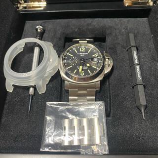 オフィチーネパネライ(OFFICINE PANERAI)のクーポン特価 レア美品 パネライ ルミノール GMT 44mm PAM00297(腕時計(アナログ))
