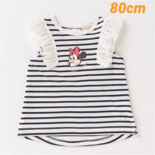 プティマイン(petit main)の《新品、未使用》プティマイン ディズニーコラボ ミニーTシャツ 80cm(Tシャツ)