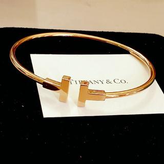 Tiffany & Co. - 新品 286,000円 ティファニー K18 Tワイヤー ブレスレット バングル