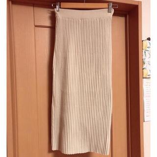 ディーホリック(dholic)の【韓国購入品】ニットタイトスカート グレージュ(ロングスカート)