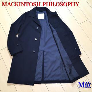 マッキントッシュフィロソフィー(MACKINTOSH PHILOSOPHY)の極美品★マッキントッシュ 最上級ステンカラーコート カシミヤタッチ  紺A610(ステンカラーコート)