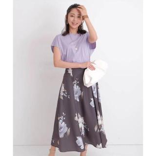 ジャスグリッティー(JUSGLITTY)の新品✨ジャスグリッティー ♡大花プリントスカート(ロングスカート)