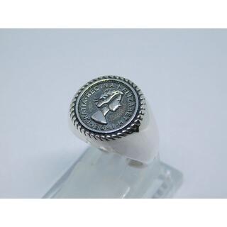 新品 未使用 12号 エリザベス コイン リング フリーサイズ アンティーク(リング(指輪))