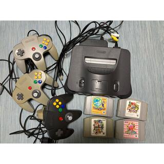 ニンテンドウ64(NINTENDO 64)のNintendo 64 ※ジャンク品、カセット付き(家庭用ゲーム機本体)