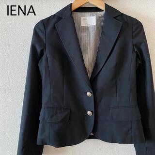 イエナ(IENA)のIENA イエナ テーラードジャケット エンブレム ブラック 黒 38 M(テーラードジャケット)