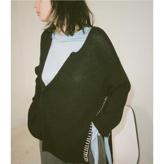 Maison Martin Margiela - soduk slit knit cardigan/black