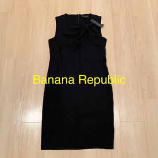 バナナリパブリック(Banana Republic)のバナリパ ☆リボン付きワンピースドレス(ひざ丈ワンピース)