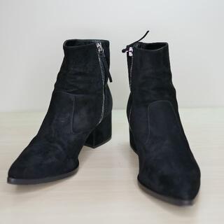 ミュウミュウ(miumiu)のmiumiu ミュウミュウ 37 黒 スウェード ショートブーツ(ブーツ)