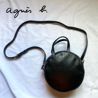 agnes b. - 【高級感】2way アニエスベー ショルダーバッグ レザー ブラック ロゴ付