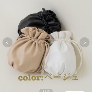カスタネ(Kastane)のKastane ミニレザー巾着ショルダー(ショルダーバッグ)