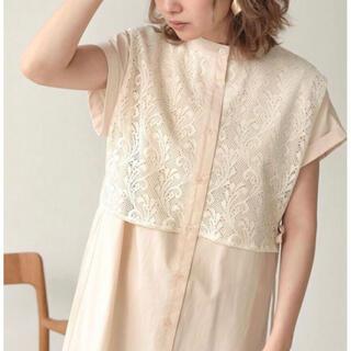 LOWRYS FARM - レイヤード風バンドカラーシャツワンピース bab 美品