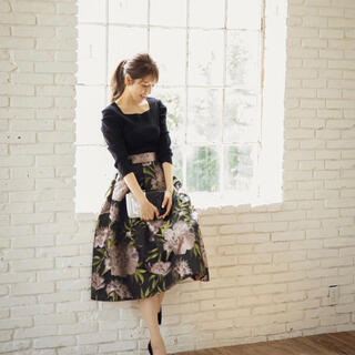 フレイアイディー(FRAY I.D)の♡cookie chocolate 美香さんコラボ 花柄スカート♡(ロングスカート)