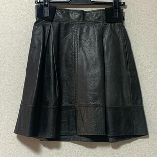 ルシェルブルー(LE CIEL BLEU)のLE CIEL BLUE ルシェルブルー レザースカート(ひざ丈スカート)