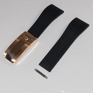 ロレックス ラバーベルト 交換用 ラグ幅20ミリ専用 ブラック
