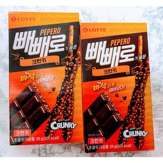 【大人気!!】韓国菓子 LOTTE  ロッテ ペペロ 2箱(菓子/デザート)
