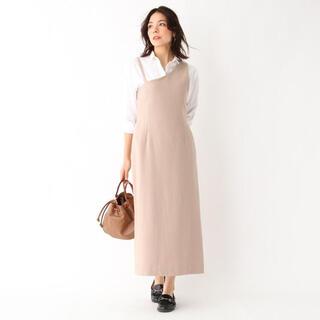 アクアガール(aquagirl)のaquagirl  ウール混アシンメトリージャンパースカート(ロングスカート)