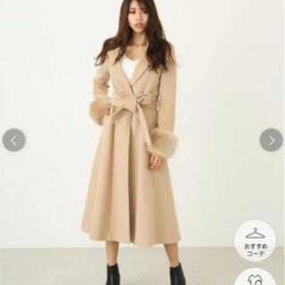 リエンダ(rienda)のフレアロングFaux fur SLV Wool ct コート(ロングコート)