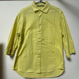 アダムエロぺ(Adam et Rope')のアダムエロペ 7分袖シャツ コットン100% L イエロー(シャツ)