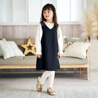 サニーランドスケープ(SunnyLandscape)の新品 アプレレクール チェック切替えジャンパースカート(ワンピース)