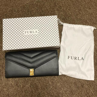 フルラ(Furla)のFURLA 長財布 フルラ 黒 財布 新品 箱付き レディース シンプル(財布)