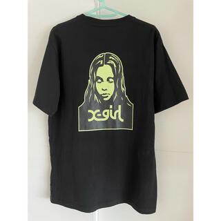 エックスガール(X-girl)のエックスガール トップス 半袖 ブラック プリント(Tシャツ(半袖/袖なし))
