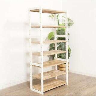送料無料【新品】天然木 オープン ラック 本棚 アウトレット