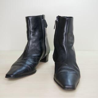 エルメス(Hermes)のHERMES エルメス 36 1/2 黒 イタリア製 ショートブーツ(ブーツ)