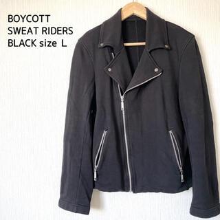 BOYCOTT - BOYCOTT ボイコット スウェットライダースジャケット メンズ 黒 L